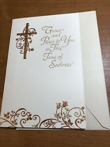 Grace and Peace Time Of Sadness Religious Sympathy Card American Greetings - NEW