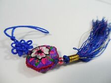 Lucky Embroidered Hanging Tassel Charm for Keychain/cellphone/Purse/Wallet #b