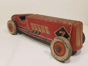 VINTAGE WELLS BRIMTOY TINPLATE RACING CAR
