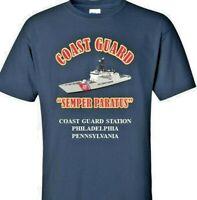 COAST GUARD STATION PHILADELPHIA - PA *COAST GUARD VINYL PRINT SHIRT/SWEAT
