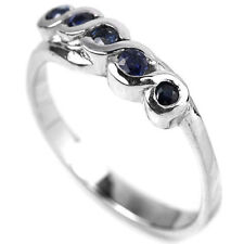 Natural SAPPHIRE Birthstone 925 STERLING SILVER RING S7.75