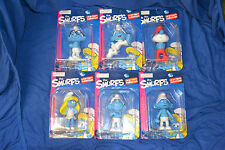 7 x the Smurfs los pitufos large Figure Collection OVP papá brainy Baby Smurfette