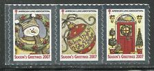 U.S. Christmas Seals - 2007 issue - mnh strip of 3