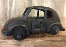 Hand Crafted Dark Wood Classic Volkswagen Car with Turning Wheels NAT.CAR.G