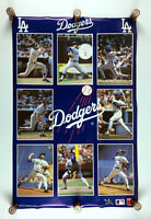 Poster 1987 Los Angeles Dodgers by Starline - Valenzuela Sax Guerrero Hershisher