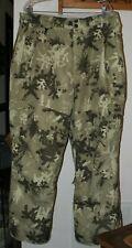 Men's XL 686 Mannual Snowboard Insulated Pants Green Camo Deer EUC