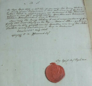 Taufschein Oberlind (Sonnenberg) 1836: Priest Schröter Over 2 Sons From Jg Weber