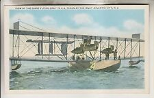 VINTAGE POSTCARD - GIANT FLYING CRAFT N.C.4 - INLET ATLANTIC CITY NEW JERSEY