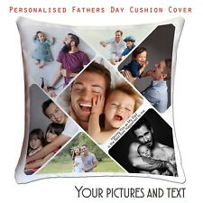 Fathers Day Personalised Photo Cushion Cover Collage picture template-❤ Dad-02 ❤