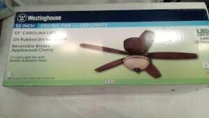 Westinghouse Lighting 7209600 Carolina 52-Inch Indoor Ceiling Fan, Light Kit