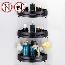 Corner Shower Shelf Holder Caddy Bathroom Kitchen Storage Rack Basket Punch-Free