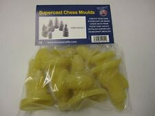 9 x SUPERCAST REF 0005 LEWIS NO  2 CHESS MOULDS