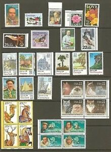 US 1988 Commemorative Year Set with 30 Stamps MNH