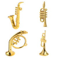 Set of 4pcs Miniature Musical Instrument 1/12 Dollhouse Home Display Decor