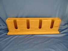 "Teak glass holder with shelf SEATEAK made Thailand wall mount 17"" wide boat wood"