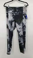 Joylab Womens Multicolor Abstract High Rise Activewear Leggings Large