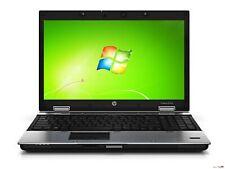 HP ELITEBOOK 8540p 15,6 HD LED NVIDIA i5 4 RAM 250 HDD Win 7 USB 3.0 CAM