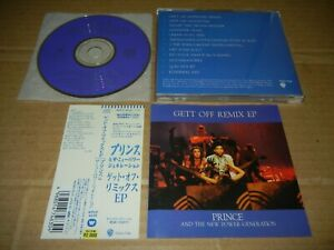 """PRINCE And The New Power Generation """"Gett Off Remix EP"""" JAPAN CD w/OBI"""
