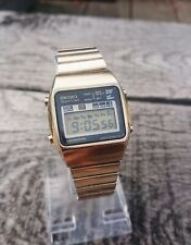 Beautiful Vintage Seiko A158-5050 Lcd Chronograph Watch