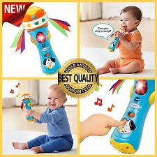 Baby Babble Rattle Toy Microphone Musical Learning Kids Sound Fun Toddler Play
