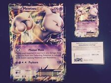 POKEMON  MEWTWO  EX (XY-183) JUMBO, REGULAR  HOLO and BONUS On-line-code card !