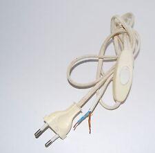 câble d'alimentation + interrupteur  ,  2 X 0.75 mm² cordon 1,45 mètres , CE.