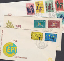 Holland 1962-63 FDC Covers Dag Van Europa Administration CEPT Children Fund