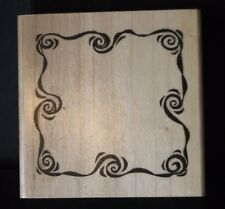 Rubber Stamp Swirl Frame Wavy Lines Waves Border by Anita's