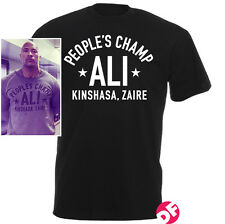 People's Champ ALI New T-shirt WWF The Rock Muhammad Ali Gym Men+Kids Tshirt