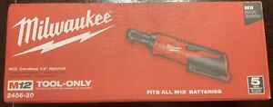 """Milwaukee 2456-20 M12 Cordless 1/4"""" Ratchet (Tool Only) *NEW*"""