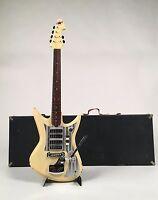 Rare White 1966 Teisco Del Rey ET-460 / K-4L Super Deluxe with Hardshell Case
