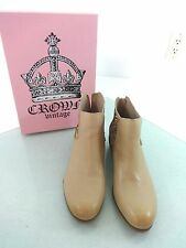 $139 RETAIL NEW NWB CROWN VINTAGE CVALENDALE WOMENS LEATHER BOOTS SIZE 8.5 US