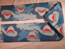 Camoflague Blue with Sharks Shark Teeth Fleece Scarf