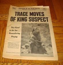June 10 1968 DAILY NEWS Newspaper PRESIDENT JFK John Kennedy Funeral Vintage