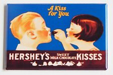 Milk Chocolate Kiss FRIDGE MAGNET (2 x 3 inches) chocolate sign candy wrapper