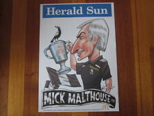 MARK KNIGHT COLLINGWOOD MICK MALTHOUSE / McDONALDS COMMEMORATIVE 2011 AFL POSTER
