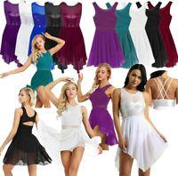 Women Ladies Lyrical Dress Contemporary Latin Ballet dance dress Leotard Costume