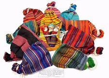 Worry Dolls Large 1 Lot de 3 poupées Coloré Tissu Sac Guatemala Trouble Dolls