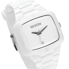 Nixon A139-100-00 Player 45mm White Dial White Rubber A139100 Unisex Watch New