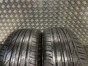2x 225 50 18 99 W BRIDGESTONE TURANZA T001 Part Worn Tyres 5.9mm Tread BMW