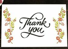 20 Thank You Cards Floral Flower Rose Greeting Post Cards Thank you Postcards