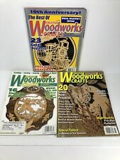 Creative Woodworks & Crafts Woodworking Magazine Lot Of 3 W/ Patterns