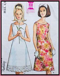 "Vintage 1960's ELEGANT FITTED & FLARED TEA DRESS Sewing Pattern BUST 34"" (M7815)"