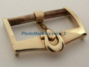 Vintage OMEGA 9ct, 9kt Solid Gold Buckle '60s MWF 9K 16mm Tang PIN Buckle Clasp!