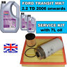 2.2 TD FORD TRANSIT  MK7 Service Kit - Oil Air Fuel Filters with 7 litres of oil