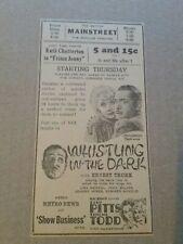 1933 Whistling In The Dark Movie Newspaper Ad Ernest Truex