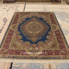 Yilong 5'x7.5' Silk Rugs Hand Knotted Luxury Home Decor Oriental Carpet 0183