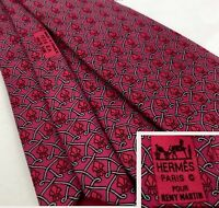 Hermes Tie Remy Martin Special Limited Edition 100% Silk France VERY RARE VIP