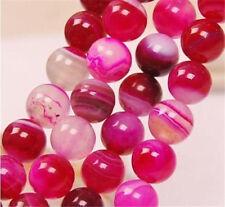 "8mm Pink Agate Onyx Gemstones Round Loose Beads 15"""
