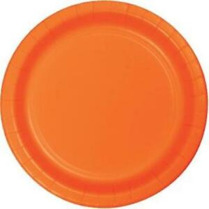 Orange 10 Inch Paper Plates 24 Per Pack Tableware Party Decorations Supplies